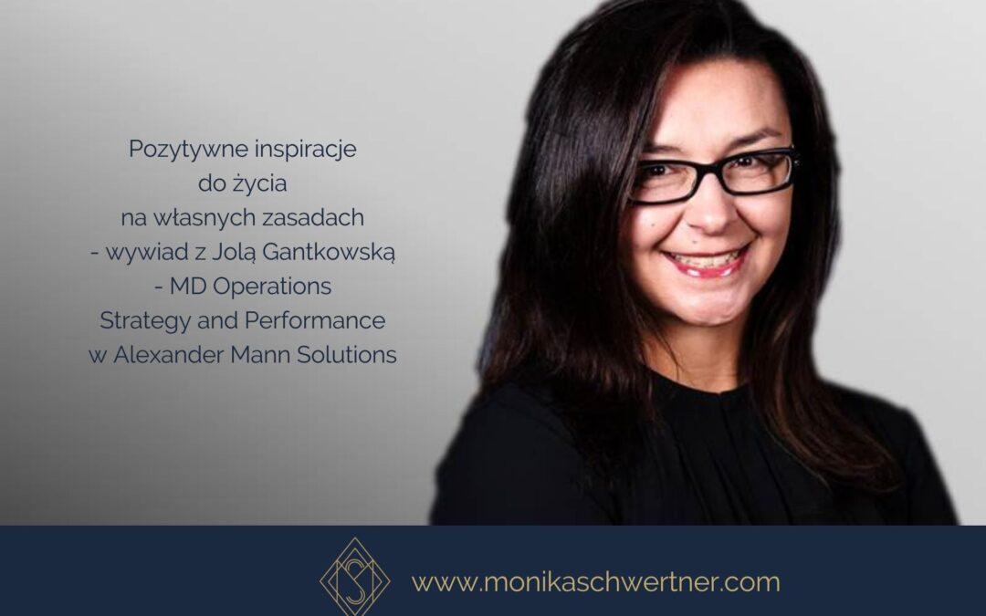 Pozytywne Inspiracje – wywiad zJolą Gantkowską – MD Operations Strategy and Performance wAlexander Mann Solutions – video